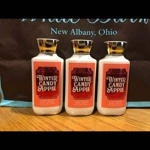 Bath & body works 8oz winter candy apple lotion x3